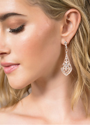 Charming Rhinestone Drop Earrings