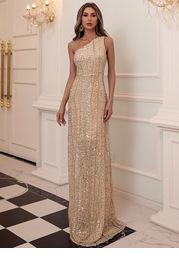 Missord One Shoulder Sequin Dress