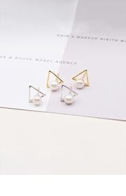 Tetrahedral Pearl Earrings