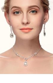 Charming Drop-Shaped Jewelry Set