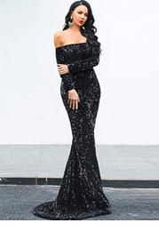 Missord Backless Sequin Mermaid Dress