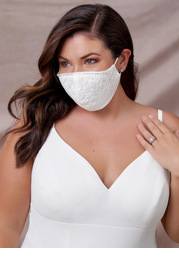 Azazie Non-Medical Lace Reusable Face Mask With Beading