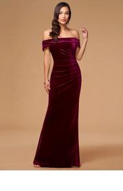 Blush Mark Sweet Thing {Color} Velvet Maxi Dress