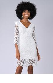 Blush Mark Own The Night {Color} Lace Midi Dress