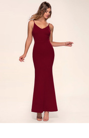 Blush Mark Day to Night {Color} Stretch Crepe Maxi Dress