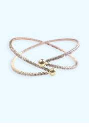 Crossing Crystal Cuff Bracelet