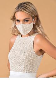 Azazie Non-Medical Alencon Lace Reusable Face Mask