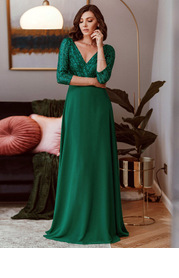 EVER-PRETTY Contrast Sequin Chiffon Dress