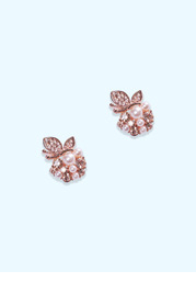 Pearl and Rose Gold Earrings