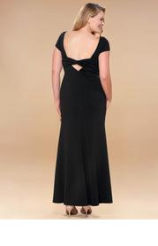 Blush Mark Plus Size Pure Beauty  Stretch Crepe Maxi Dress