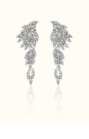 Charming Shiny Feather-Like Earrings