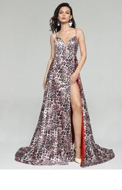 AZ Leopard Print Prom Dress