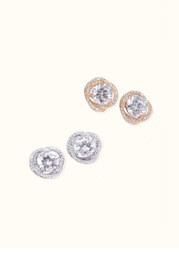Everly Crystal Knot Earrings