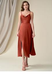 Azazie Ceci Stretch Satin Dress