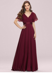 EVER-PRETTY Empire Bodice Pleated Maxi Maternity Dress