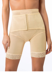 High Waisted Mid Thigh Padded Butt Shaper with Tummy Control
