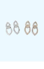 Double Teardrop Rhinstone Earrings