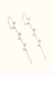 Unilateral Dainty Rod Earrings