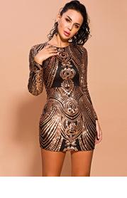 Missord Zip Detail Sequin Bodycon Dress