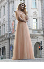 EVER-PRETTY Zip Back Contrast Sequin Mesh Dress
