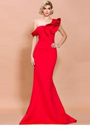 Missord Asymmetrical Neck Mermaid Hem Dress