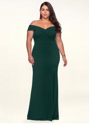 Blush Mark Plus Size My Valentine  Stretch Crepe Maxi Dress