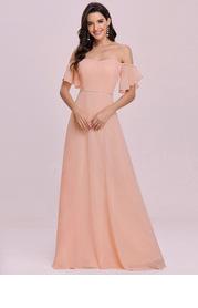 EVER-PRETTY Off the Shoulder Maxi Chiffon Dress