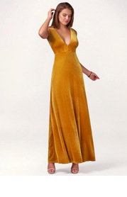 Party Time {Color} Velvet Maxi Dress