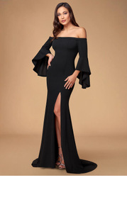 Dulcet {Color} Stretch Crepe Maxi Dress
