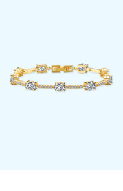 Rhinestone Cube Bracelet