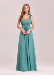 EVER-PRETTY One Shoulder Ruched Bodice Prom Dress