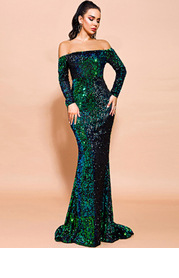 Missord Backless Sequin Mermaid Dress