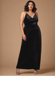 Blush Mark Plus Size On Fleek Velvet Maxi Dress