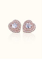 Heart of Diamonds Stud Earrings
