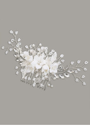 Radiant Floral and Pearl Hair Comb