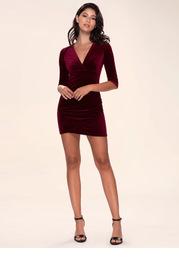 Dance All Night {Color} Velvet Bodycon Dress
