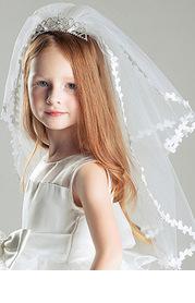 Princess Flower Girl Comb And Veil