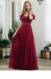 EVER-PRETTY Cold Shoulder Contrast Sequin Mesh Dress