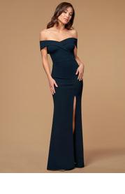 Blush Mark My Valentine {Color} Stretch Crepe Maxi Dress