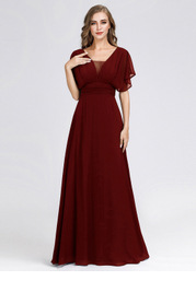 EVER-PRETTY Pleated Bodice Ruched Empire Waist Dress