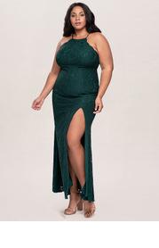 Blush Mark Plus Size Mademoiselle Lace Maxi Dress