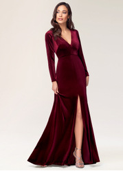 New Moon {Color} Velvet Maxi Dress