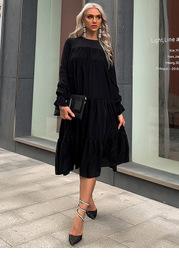 Missord Flounce Sleeve Smock Dress