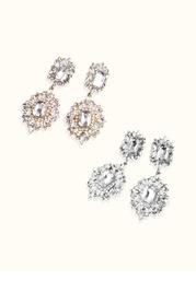 Elegant Rhinestone Drop Earrings