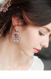 Rhinestone Loop Earrings