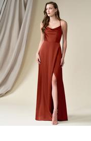 Azazie Naomie Stretch Satin Dress
