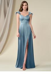 Azazie Evanna Stretch Satin Dress