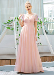 EVER-PRETTY Surplice Neck Ruched Contrast Sequin Mesh Dress