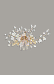 Pearly Floral Comb