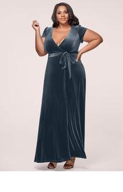 Blush Mark Plus Size Dreaming Of You Velvet Maxi Dress